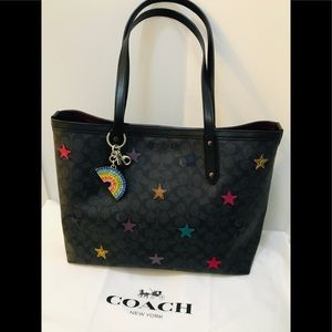 🌈 BNWT Authentic Coach Multicolor Stars Purse 🌈